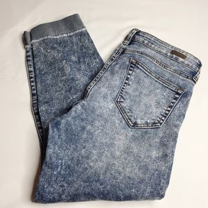 Kut from the Kloth Acid Wash Crop Jeans Size 8